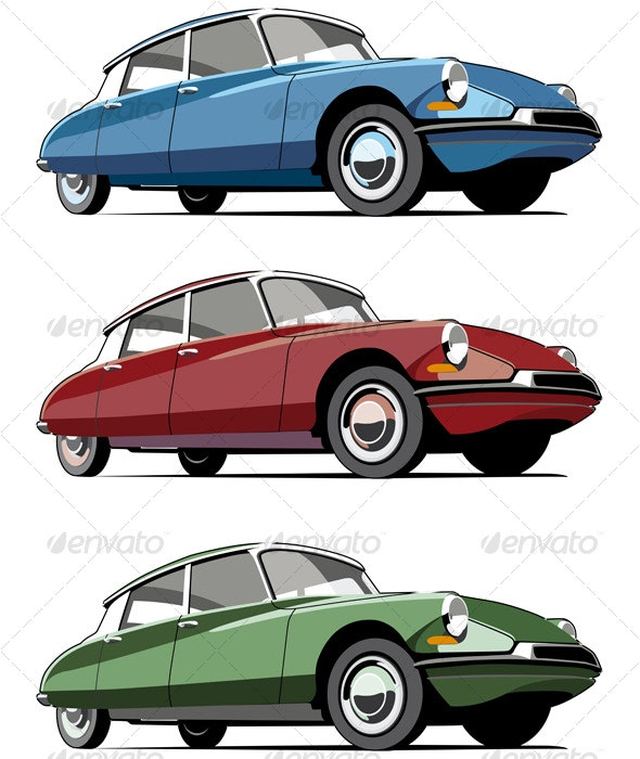 Old-fashioned French car - Retro Technology