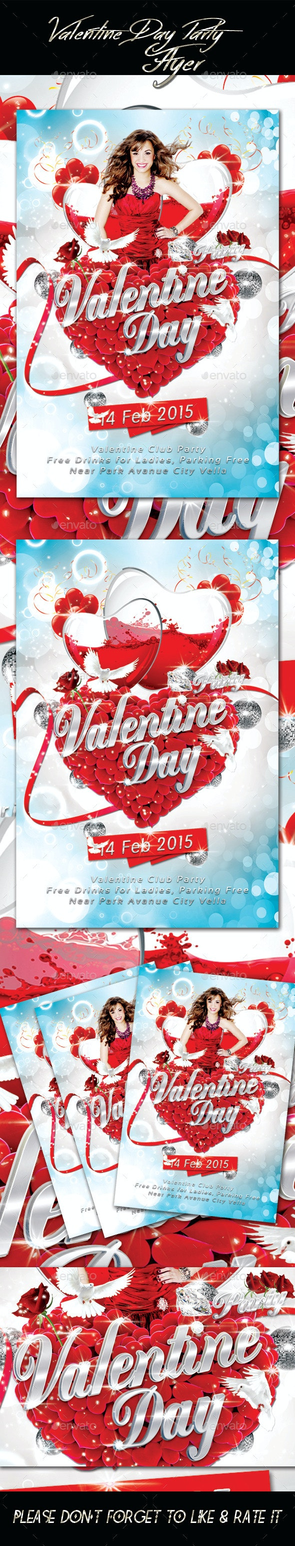 Valentines Day Party 2 Flyer - Events Flyers