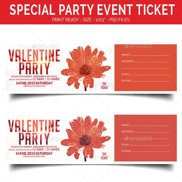 Special Party Event Ticket