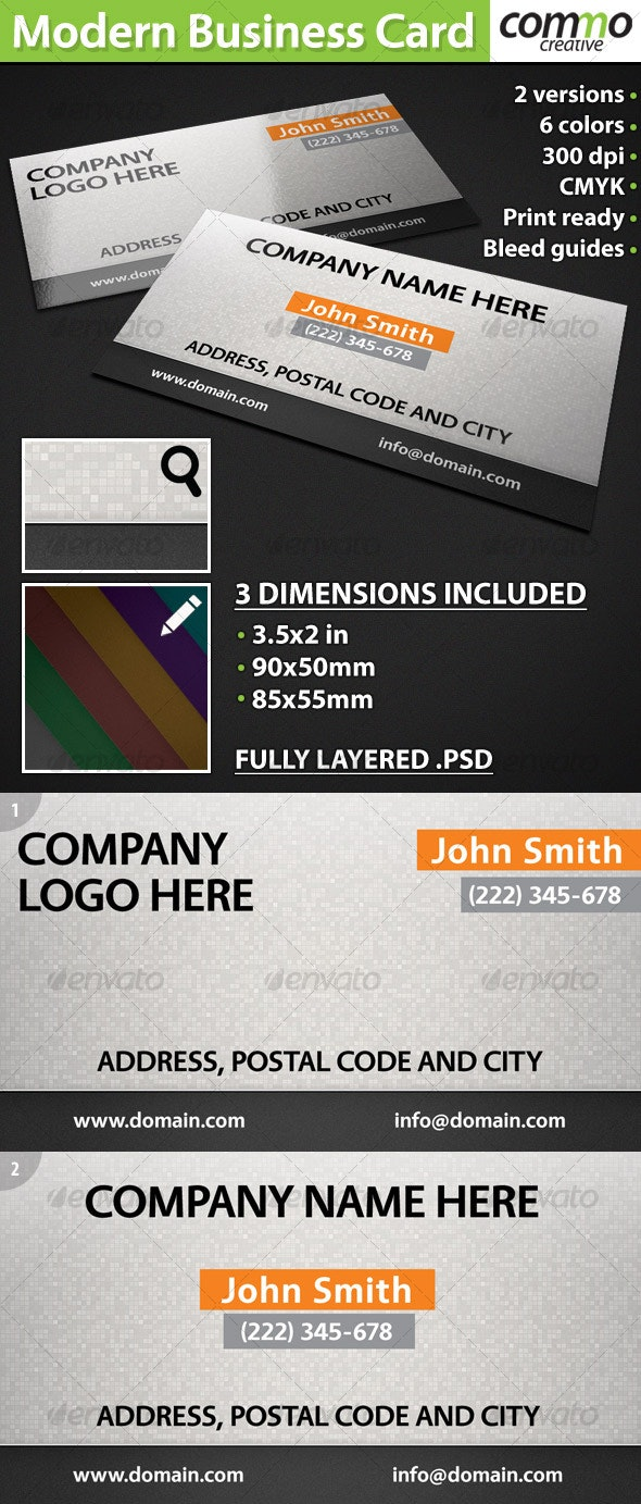 Modern Business Card Design, all sizes - Creative Business Cards