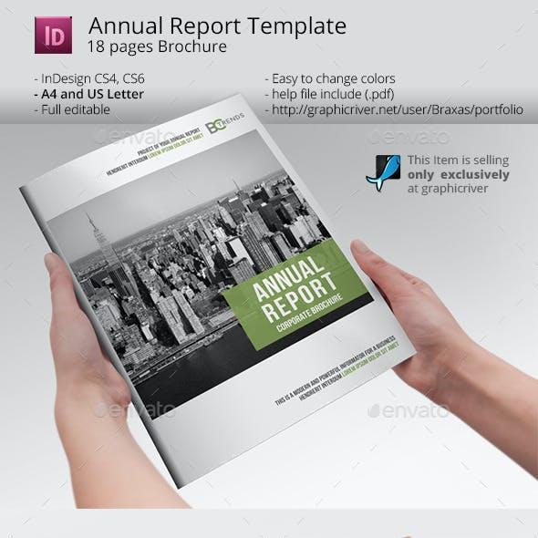 Annual Report Business Brochure Template