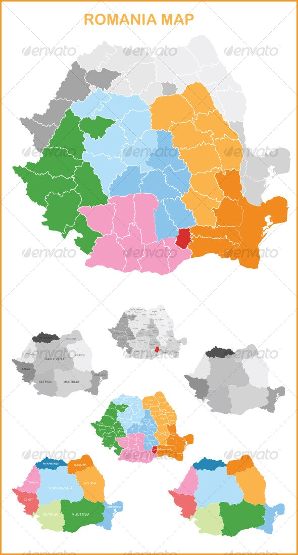 Vector Romania Map  - Miscellaneous Vectors