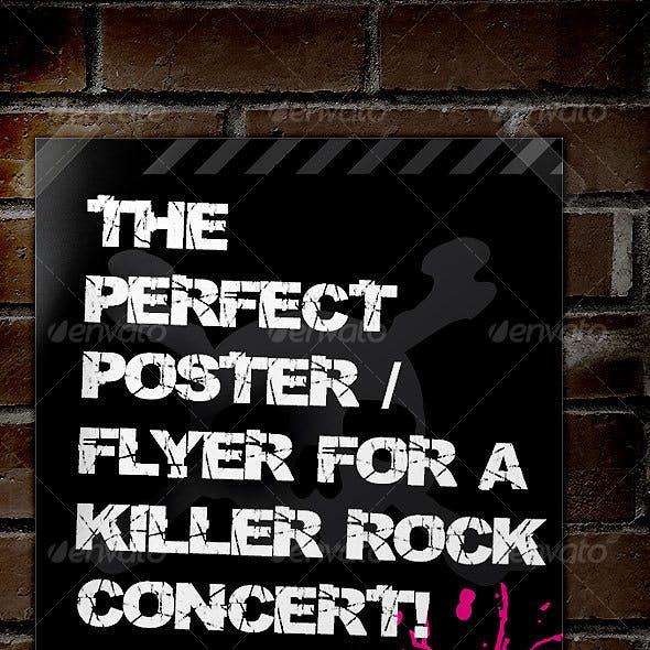 Rock Concert Poster / Flyer