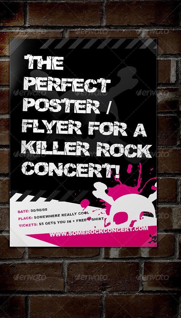 Rock Concert Poster / Flyer - Concerts Events