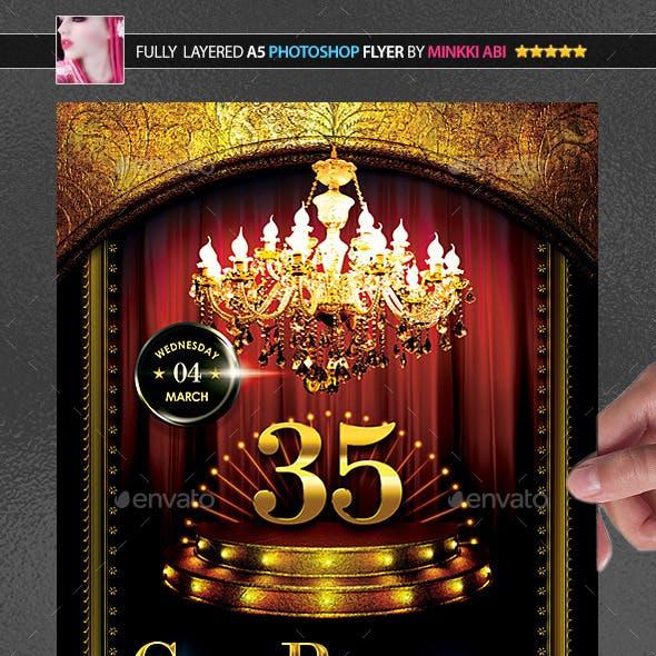 Gold Birthday Poster/Flyer