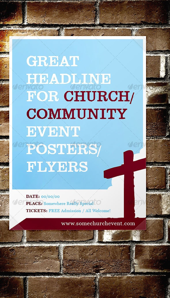 Church / Community Event Poster / Flyer - Church Flyers