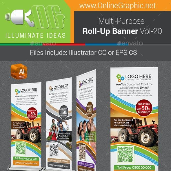 Multipurpose Business Roll-Up Banner Vol-20
