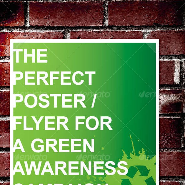 Green Awareness Campaign Poster / Flyer