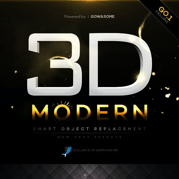 Modern 3D Text Effects GO.1