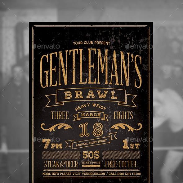 Gentlemen's Brawl Flyer