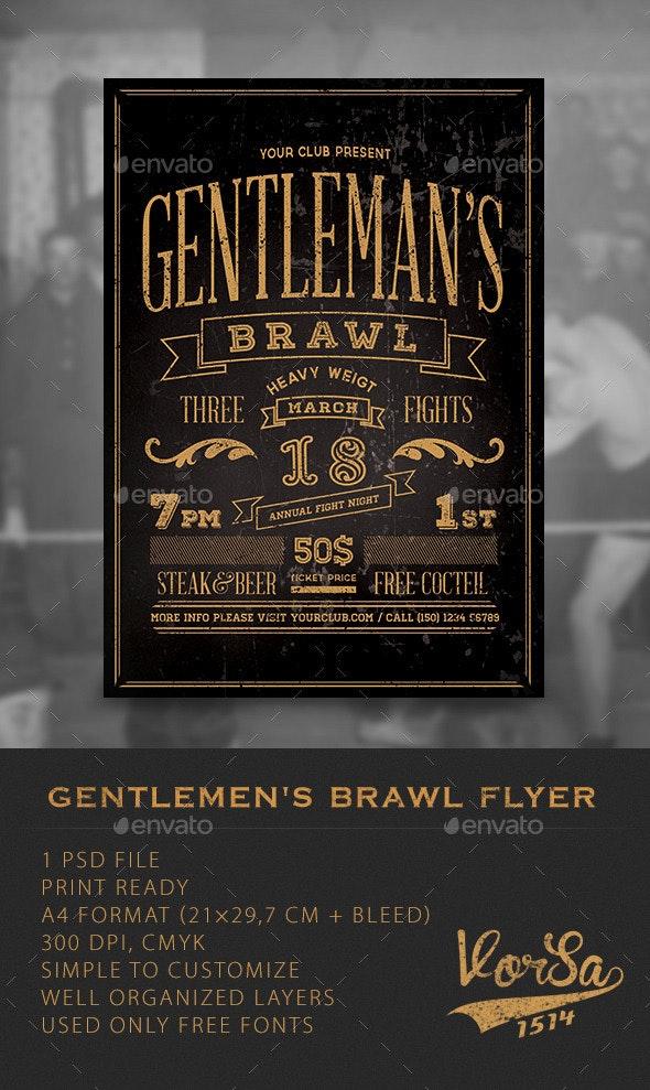 Gentlemen's Brawl Flyer  - Clubs & Parties Events