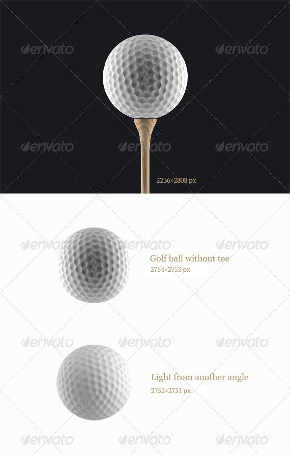 3D Golf ball - Activities & Leisure Isolated Objects