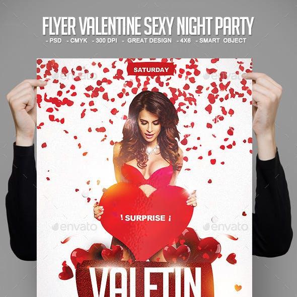 Flyer Valentine Sexy Night Party