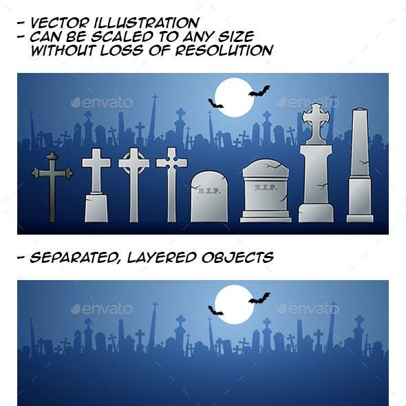 Cartoon Tombstones