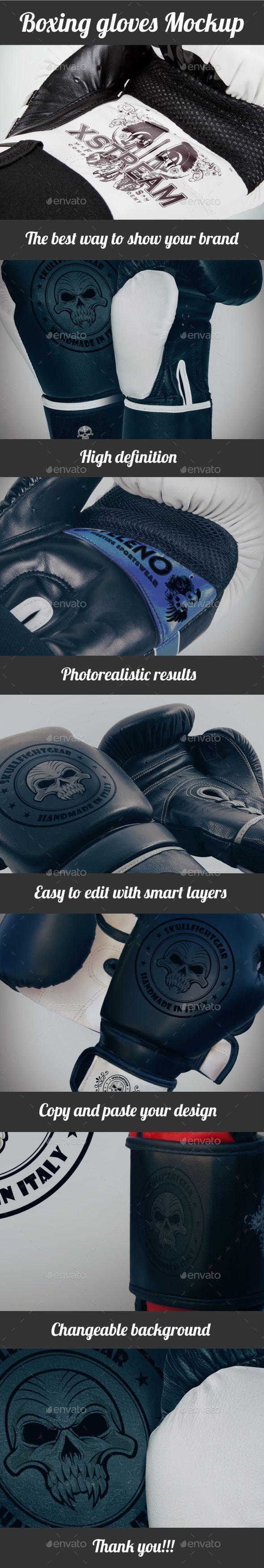 Boxing Gloves Mockup - Graphics