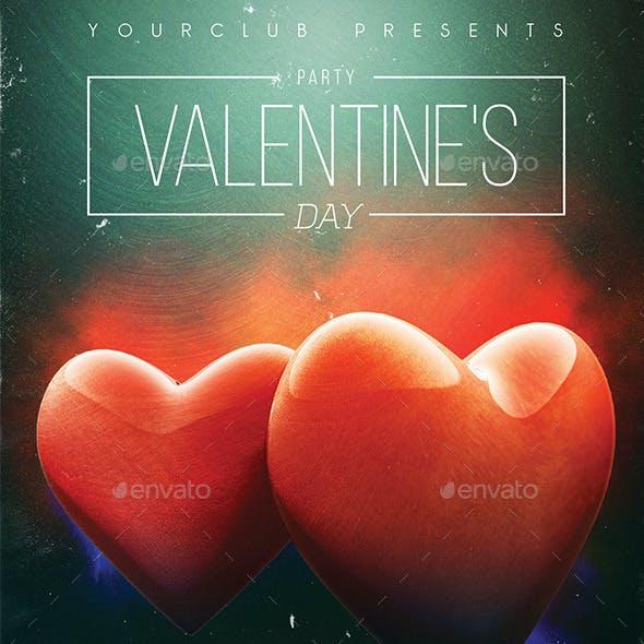 Grunge Hearts Valentine's Day Party Flyer