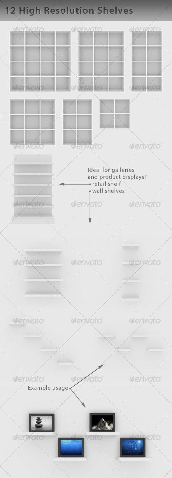 Empty Shelf - Objects Illustrations