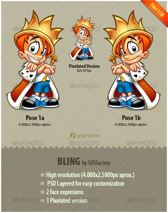Bling Series 1/28 - Characters Illustrations