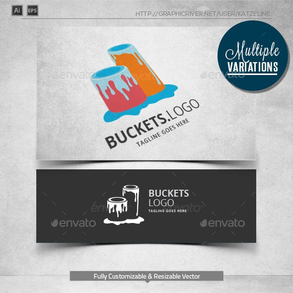 Buckets Painting - Logo Template