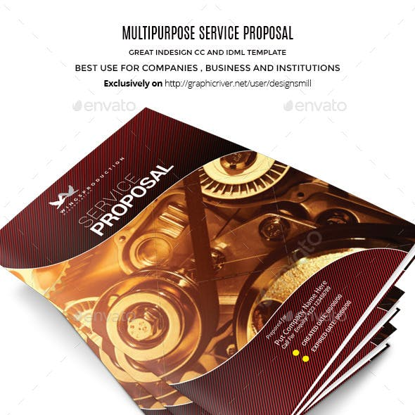 Wings Multipurpose InDesign Service Proposal
