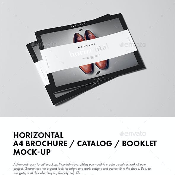 Horizontal A4 Brochure / Catalog / Booklet Mock-up