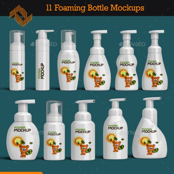 Foaming Bottle Mockup