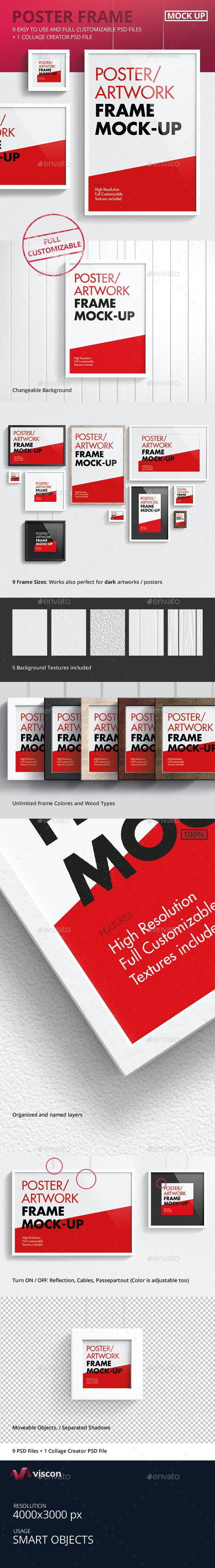 Poster / Artwork Frame Mock-Up - Posters Print