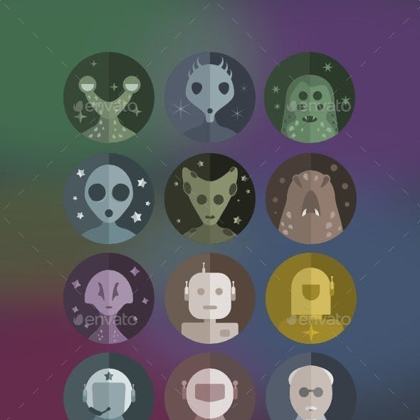 Space Residents Avatars