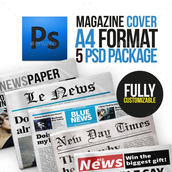 5 Newspaper Covers A4 Format