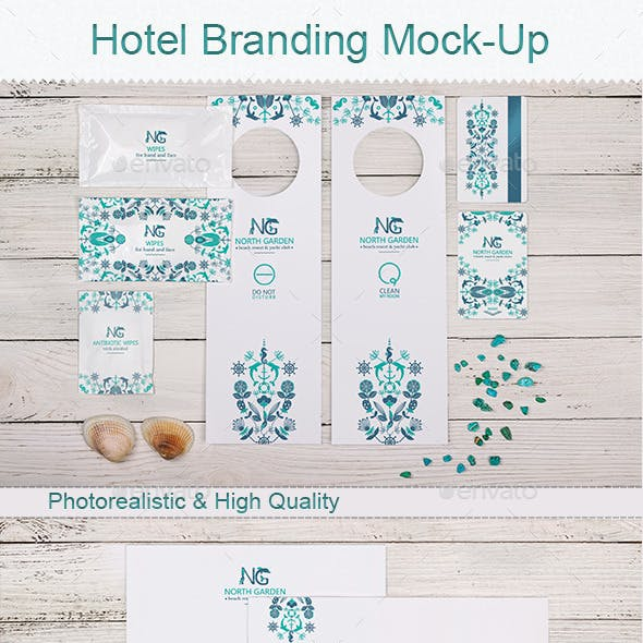 Photorealistic Branding Mock-Up for Hotel Identity