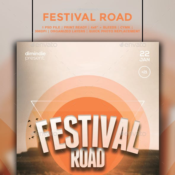 Festival Road Flyer Template