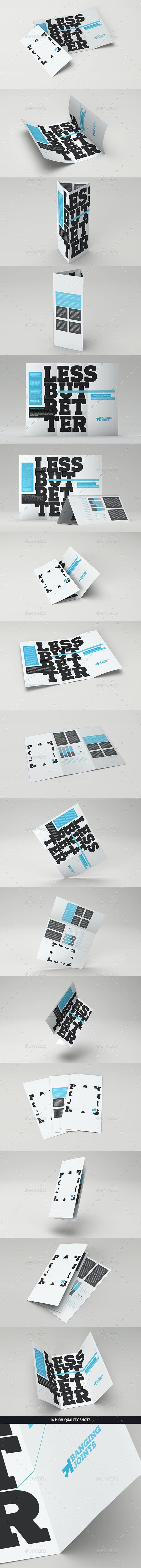 Trifold Brochure Mock-Up Pack - Brochures Print