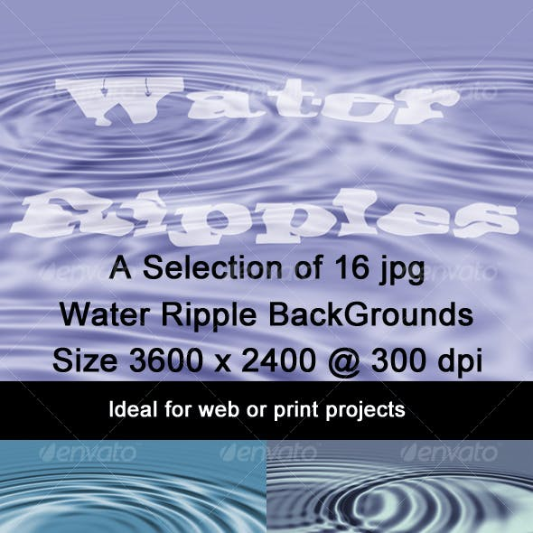 Water Ripple Graphics, Designs & Templates from GraphicRiver