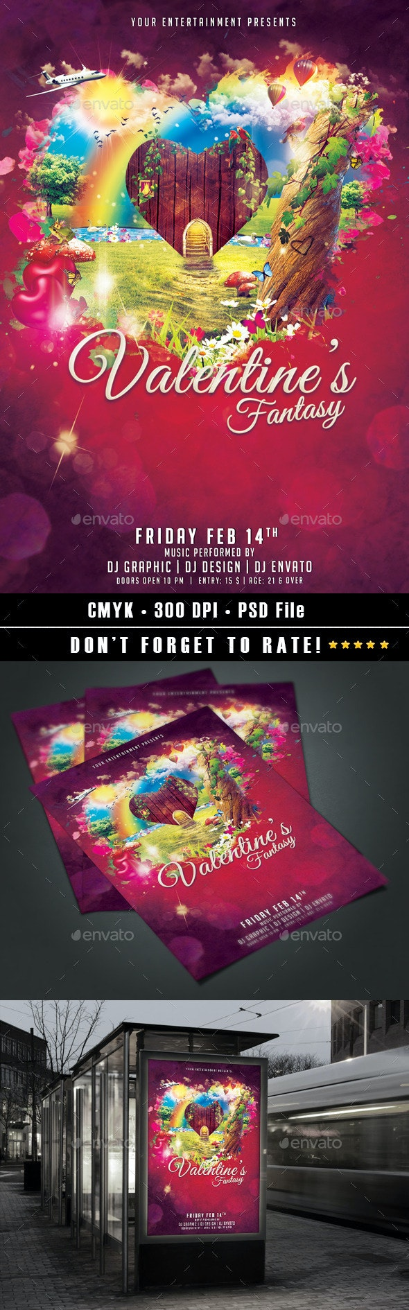 Valentine's Fantasy Flyer - Events Flyers
