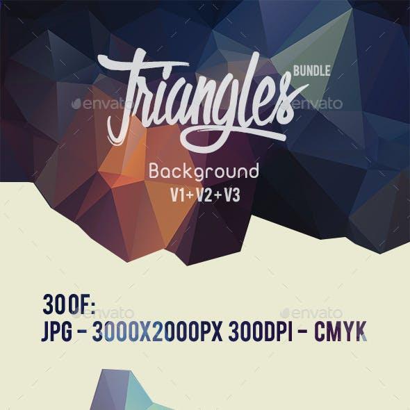30 Triangles Background Bundle