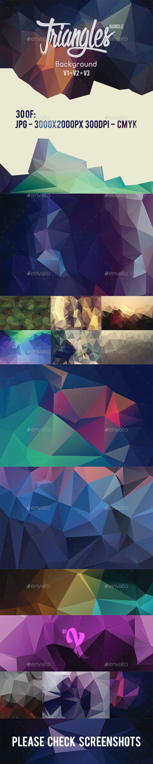 30 Triangles Background Bundle - Abstract Backgrounds