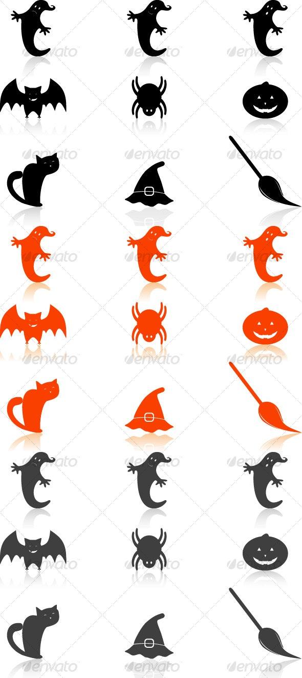 Halloween Icons Set - Web Icons