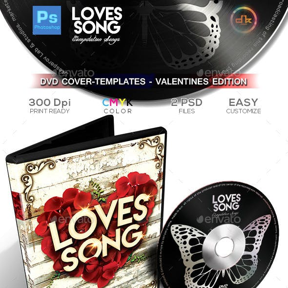 Valentines DVD Cover - Templates