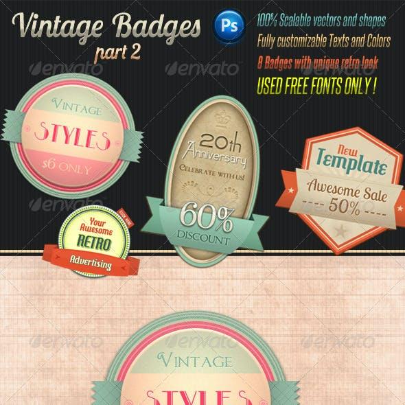 Retro Vintage Badges - Part 2