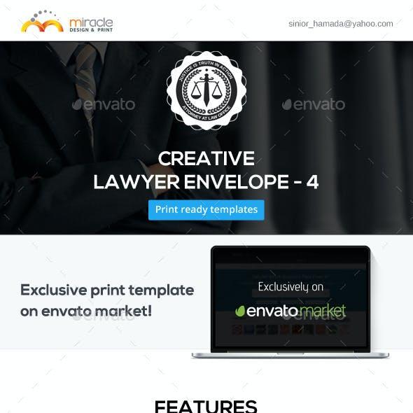 Creative Lawyer Envelope #4