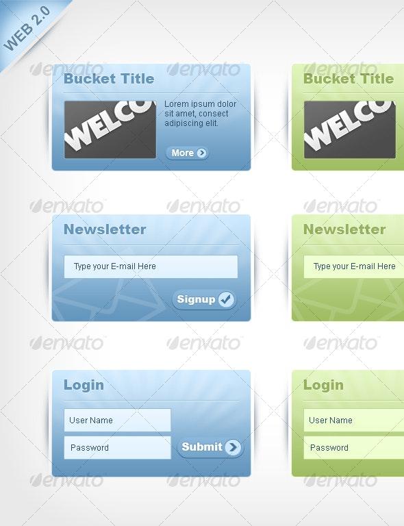 Web 2.0 Style web elements/buckets - Miscellaneous Web Elements