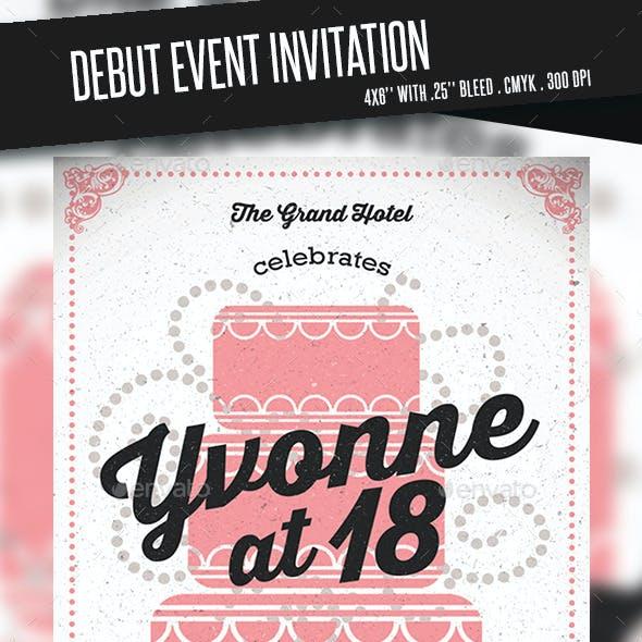 Debut Event Invitation