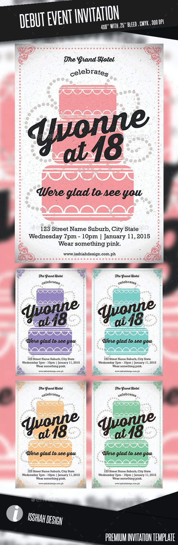 Debut Event Invitation - Birthday Greeting Cards