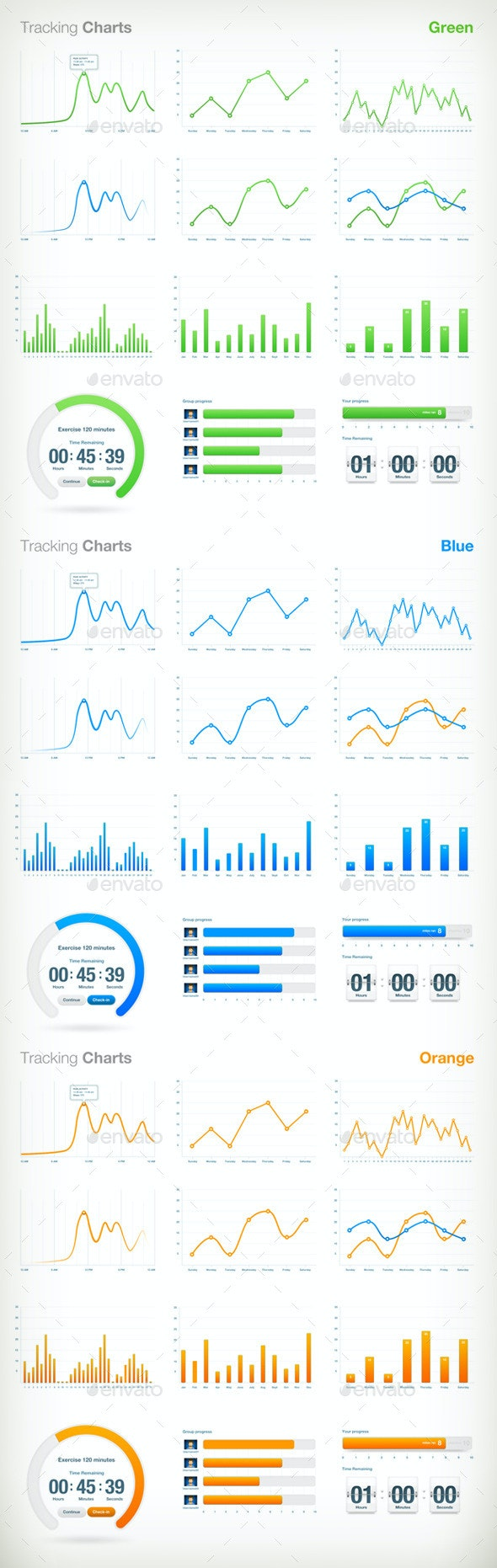 Tracking Charts - Infographics