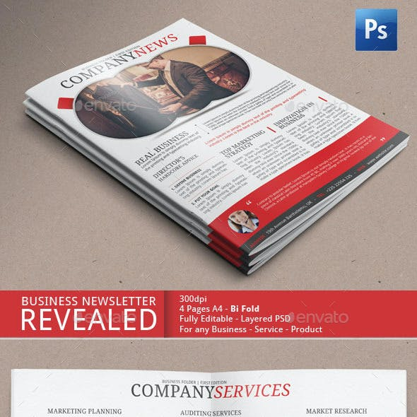 Newsletter Template For Marketing