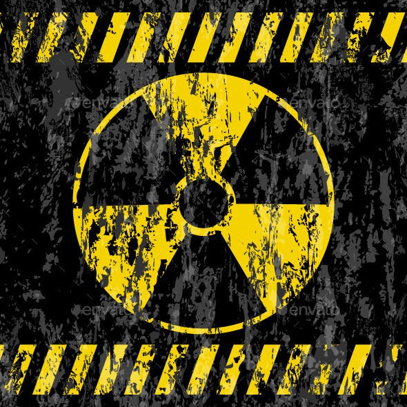 Grunge Radiation Sign Background