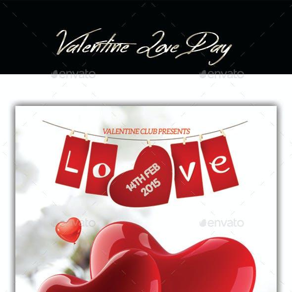 Valentines Love Day Flyer