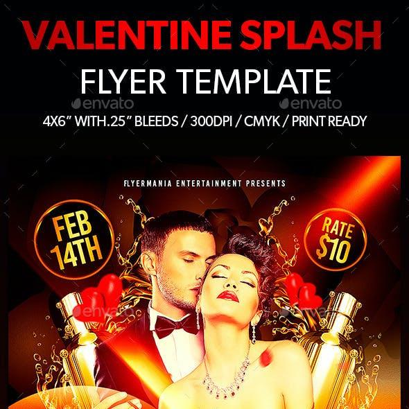 Valentine Splash Flyer Template