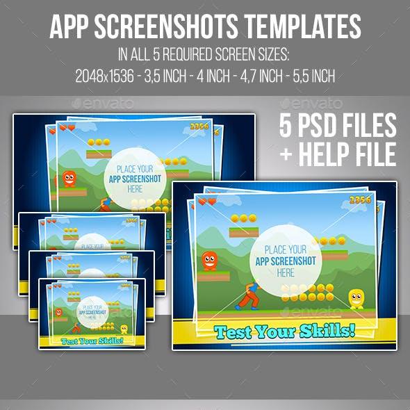 App Screenshots Templates Set #7