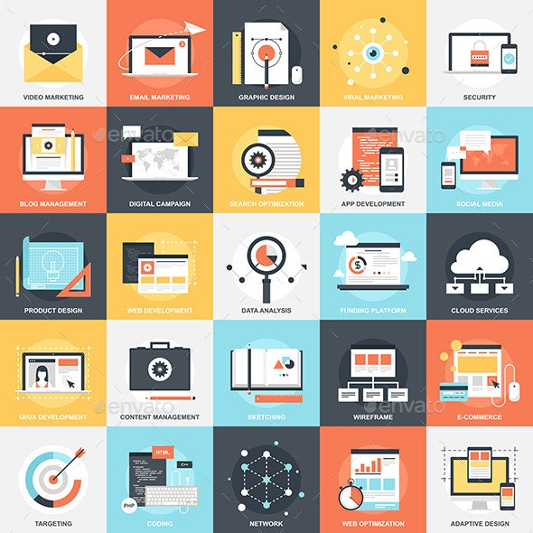 SEO and Development - Technology Icons